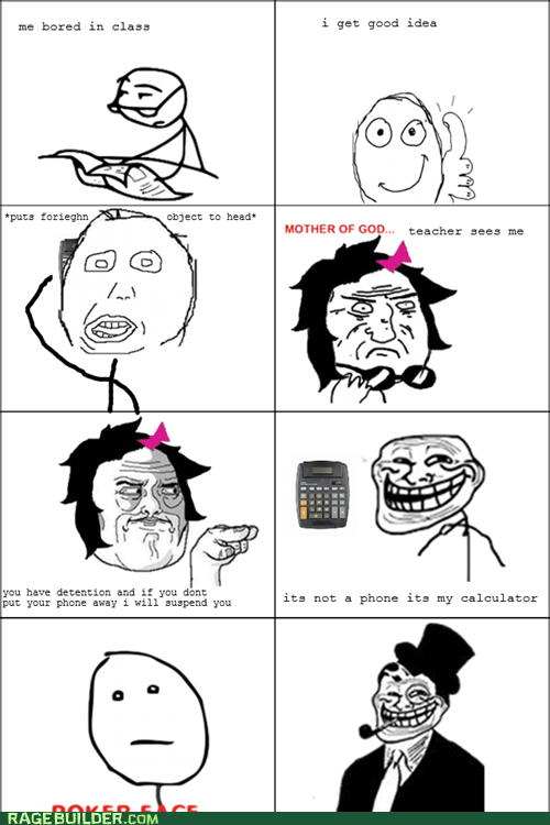 calculator,mother of god,poker face,Rage Comics