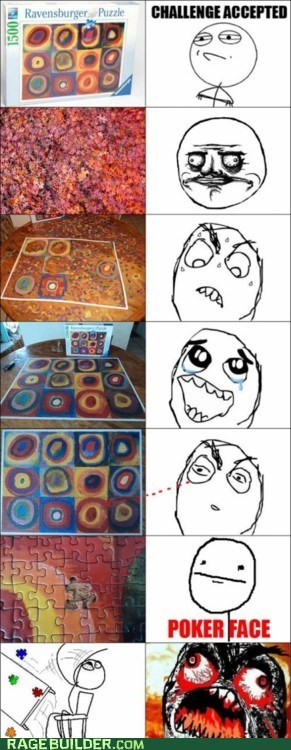 me gusta missing poker face puzzle Rage Comics - 6284041216