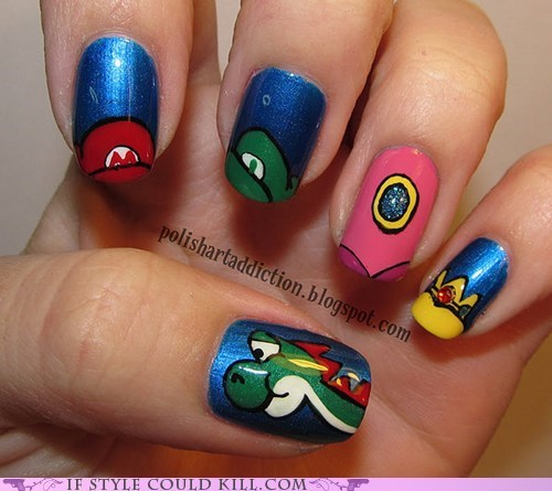 cool accessories mario nail art nails - 6284136960