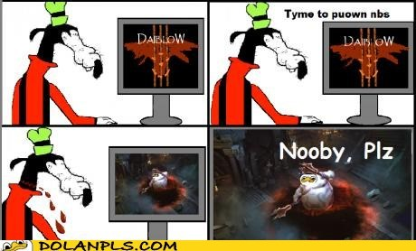 blizzard diablo 3 MMO noobs pownage video game - 6284176128