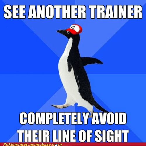 line of sight meme Memes socially awkward penguin trainer - 6284188160