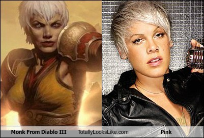 celeb diablo III funny game monk pink TLL - 6284217088