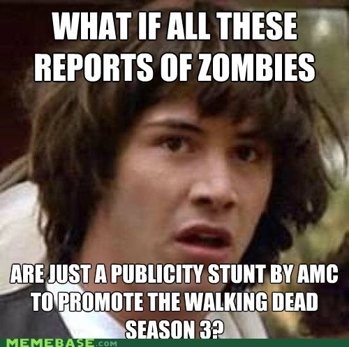amc conspiracy keanu secret ad viral marketing The Walking Dead zombie - 6284265472