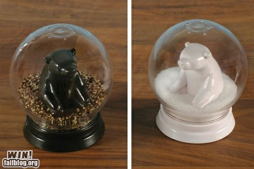 bears,cooking,design,salt and pepper,salt and pepper shakers,snow globe