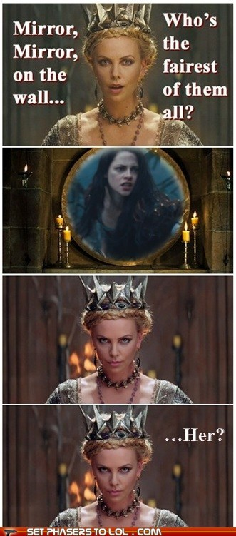 arrested development,charlize theron,disbelief,funny,kristen stewart,snow white,snow white and the huntsm,snow white and the huntsman
