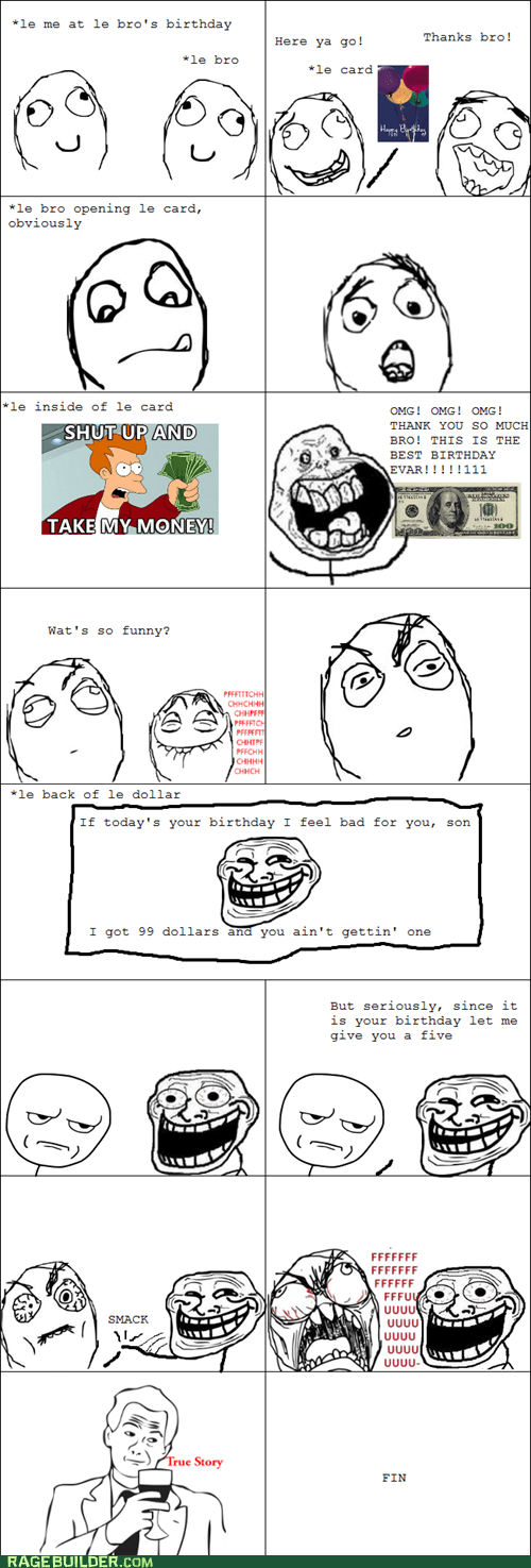 birthday forever alone Rage Comics siblings - 6284433152