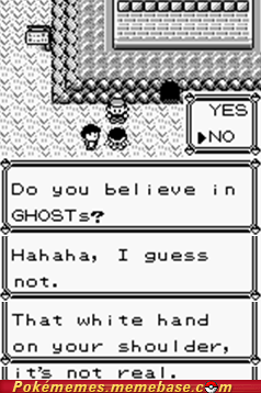 creepy gameplay ghosts Pokémon shoulder troll