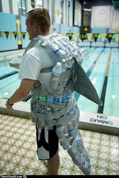 flotation flotation aid shark water bottle water wings - 6284505600