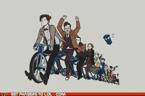 best of the week,bicycle,chain,doctor who,past,regenerations,tardis,the doctor