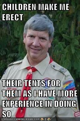 Creepy Scoutmast,creepy scoutmaster,experience,kids,tents