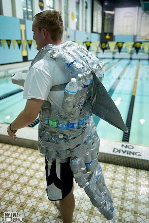boat DIY shark suit swim suit water bottles - 6284752896