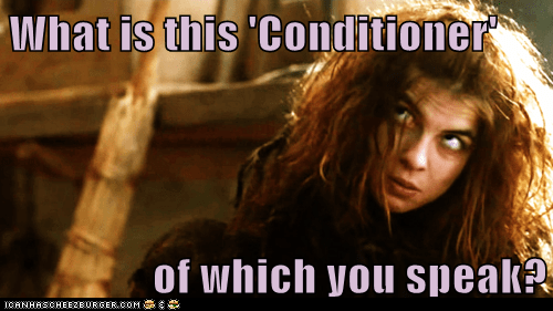 conditioner,confused,Game of Thrones,messy hair,Natalia Tena,osha,shower,speak,what is this