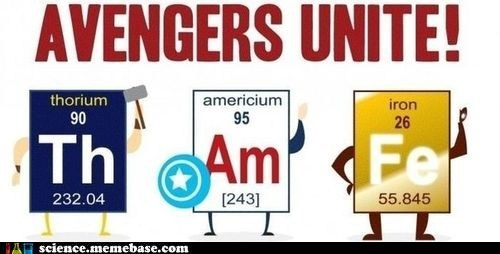 avengers Chemistry periodic table superheroes