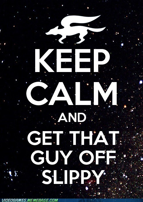 keep calm meme slippy starfox