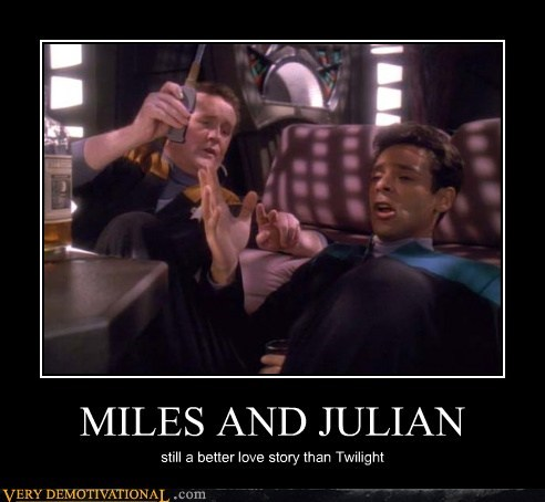 deep space 9,hilarious,julian,miles,Star Trek