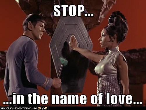 amok time gong Leonard Nimoy love pon farr song Spock Star Trek stop - 6286446080