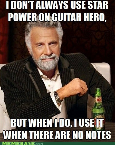 Guitar Hero meme notes rock band is better star power - 6286481920