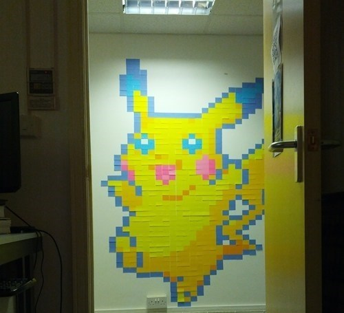 pikachu Pokémon post it post-it notes monday thru friday g rated - 6286492160