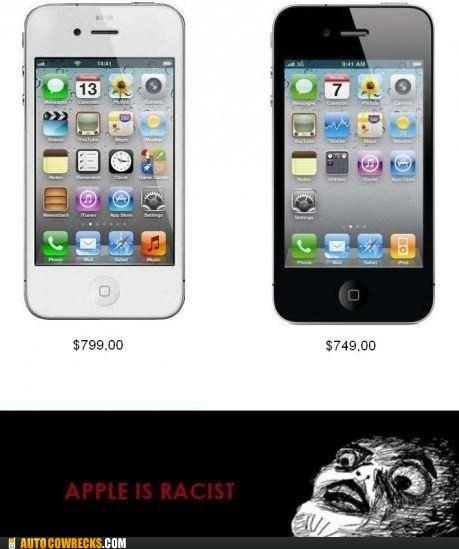 black iphone racist white iphone - 6286541312