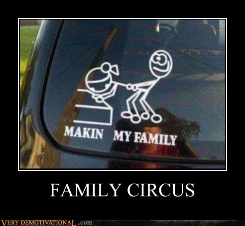 bumper sticker Family Circus Pure Awesome sexy times - 6286765568
