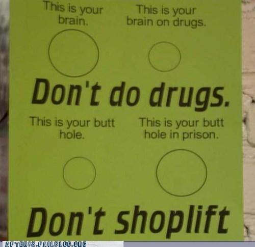 brain dont-do-drugs dont-shoplift prison this is your brain on dru this is your brain on drugs - 6286779136