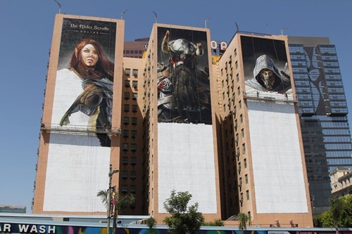 ads,banners,bethesda,e3,the elder scrolls online,video games
