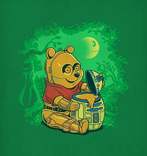 crossover Fan Art scifi star wars winnie the pooh - 6286805504