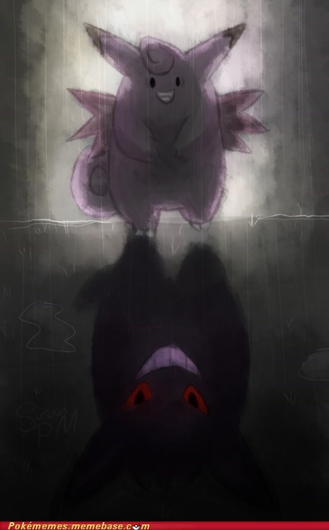 clefable,gengar,scary,shadow,the internets