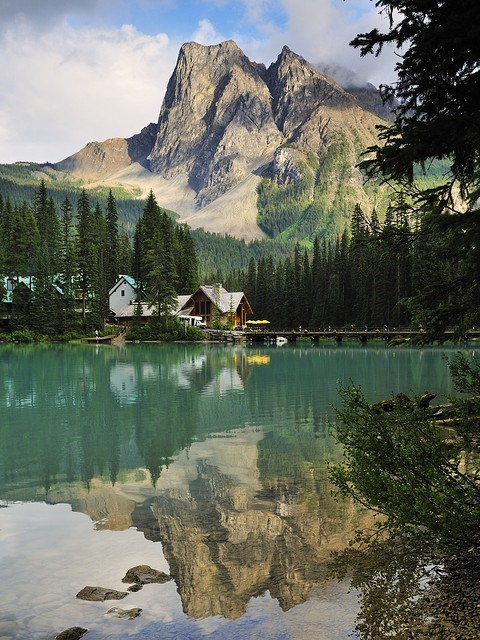 cabin,Canada,Forest,Hall of Fame,lake,mountain