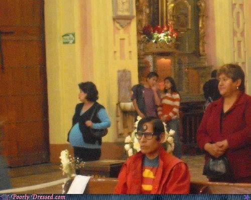 catholic church costume superman