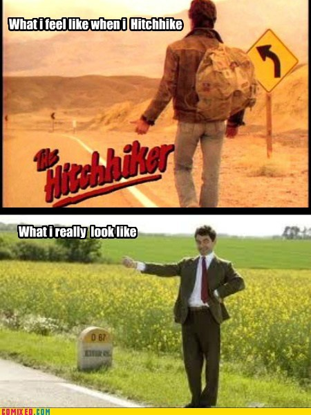 From the Movies hitch hikers mr-bean what i look like - 6287116288