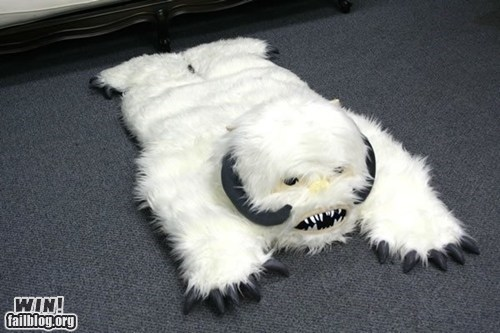 Hall of Fame nerdgasm Pillow rug star wars wampa - 6287148800