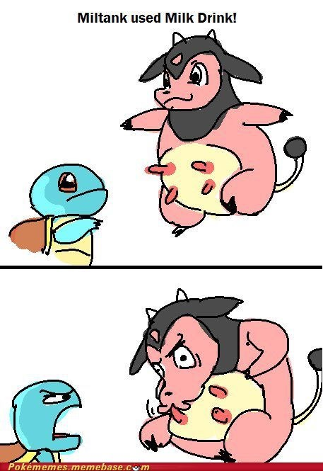Battle best of week milk drink miltank Pokémemes squirtle