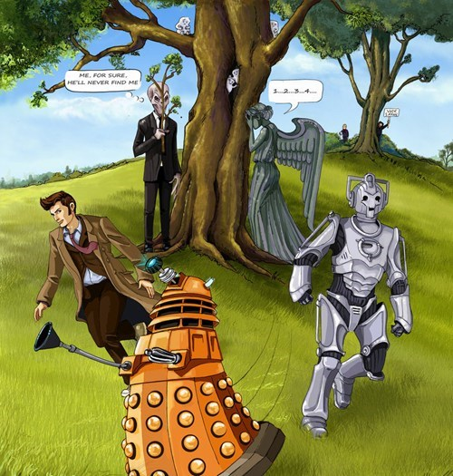 bbc,doctor who,Fan Art,hide and seek,scifi