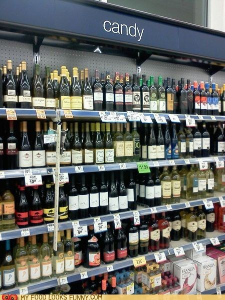 best of the week candy mislabeled shelves sign store wine