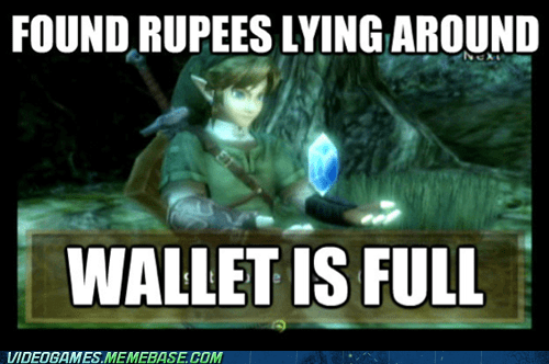 hyrule rupees wallet zelda - 6287387904