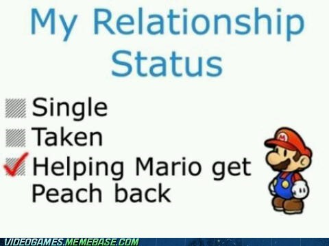 mario,relationship,relationship status,single,taken,true