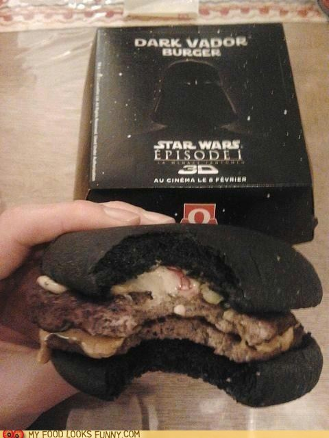 black,bread,bun,burger,dark side,star wars,weird