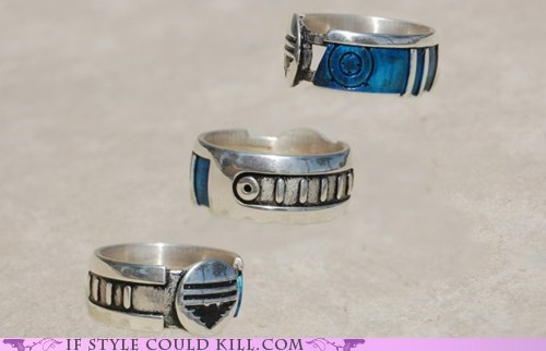 cool accessories geek chic mass effect rings video games - 6287568640