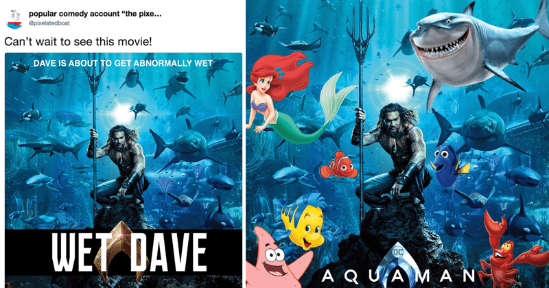 Funny poster parodies of Aquaman poster, Jason Momoa.