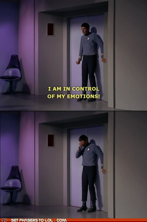 break down,crying,emotions,in control,Leonard Nimoy,logic,Sad,Spock,Star Trek,Vulcan