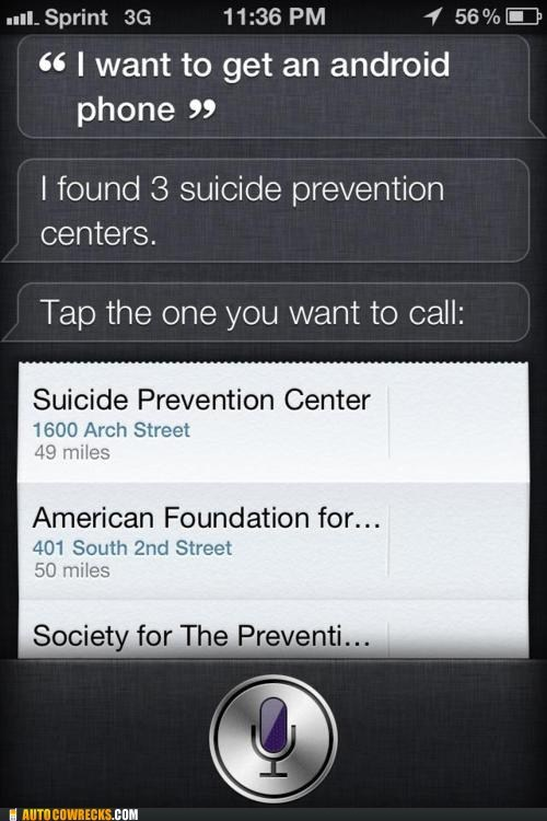 android new phone siri suicide prevention - 6287840768