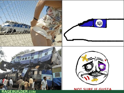 butts not sure if gusta Rage Comics train