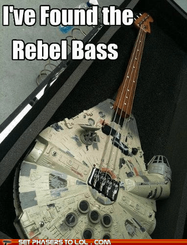 base,bass guitar,best of the week,dantooine,millennium falcon,pun,star wars,wordplay