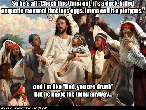 drunk god jesus mystery platypus - 6288116224