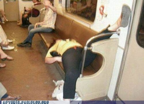 Drunk in the Metro