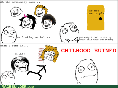 birthing,childhood ruined,maternity,Rage Comics