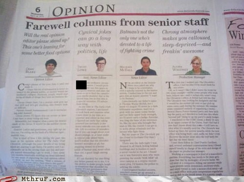 farewell columns journalism journalist newspaper op-ed opinion senior staff staff - 6288400384