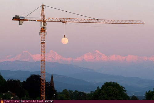 construction,crane,moon,wtf