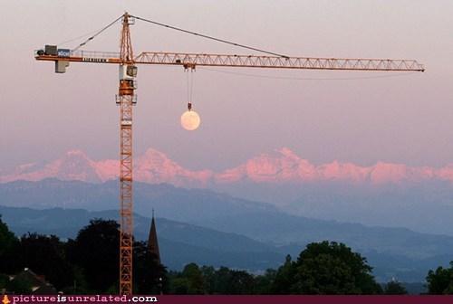 construction crane moon wtf - 6288673280